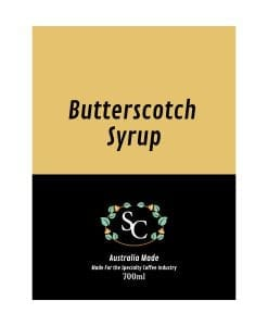 Butterscotch Coffee Syrup Label