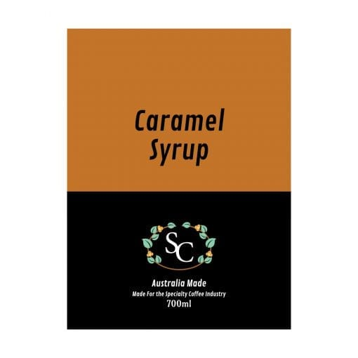 Caramel Coffee Syrup Label
