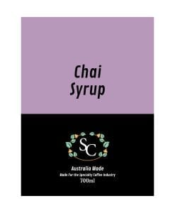 Chai Syrup Label