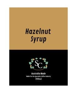 Hazelnut Coffee Syrup Label