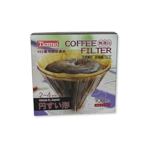 Tiamo Coffee Paper Filters V02 100 Pack